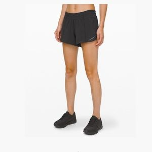 Lululemon black hotty hot shorts 10 tall VGUC 4in